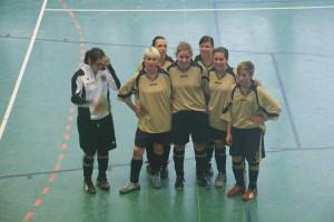 5ter Platz: Damen-Team Hildesheim freut sich / v.l.n.r. I. Franzmann, R. Prystawek, N. Ibe-Mannchen, M. Waterman, D. Gauert, L. Kompa, L. Kühl