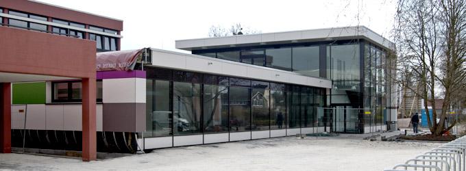 Die Mensa 2010 kurz vor der Eröffnung.q