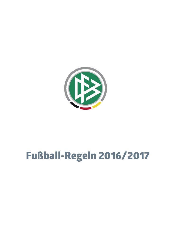 Fußball Regeln 2016-2017 DFB