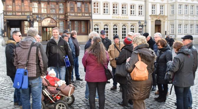 Braunkohlwanderung 2016 auf dem Hildesheimer Marktplatz