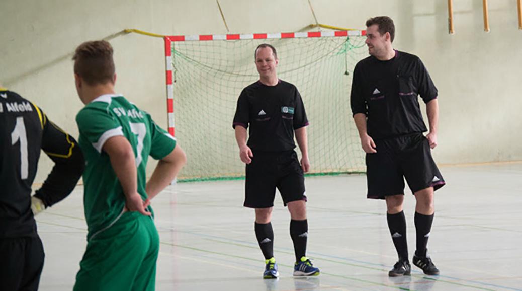 Marcus und Florian beim Futsal