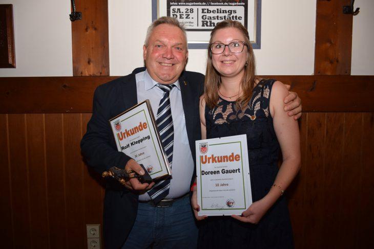 Onkel und Nichte: Rolf Klepping hat seine Nichte Doreen Gauert in die Schiedsrichterei gebracht