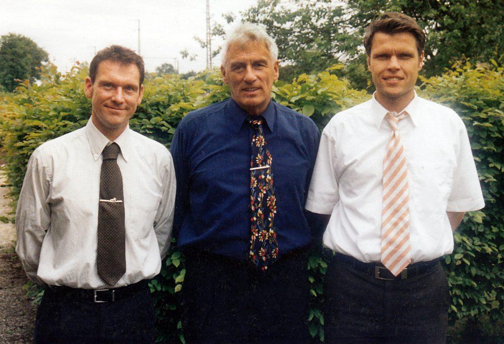 Horst Becher und die ehemaligen FIFA-Schiedsrichter Florian Meyer und Michael Weiner sind schon viele Jahre befreundet.
