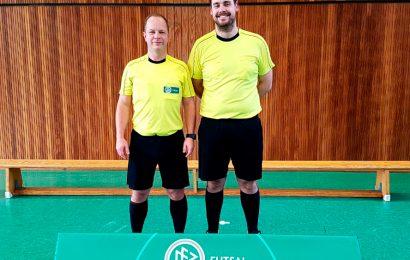 Marcus Schierbaum und Florian Deckwert unterwegs beim Futsal